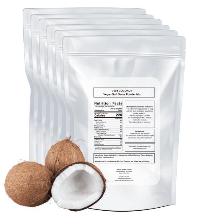 back of vegan coconut