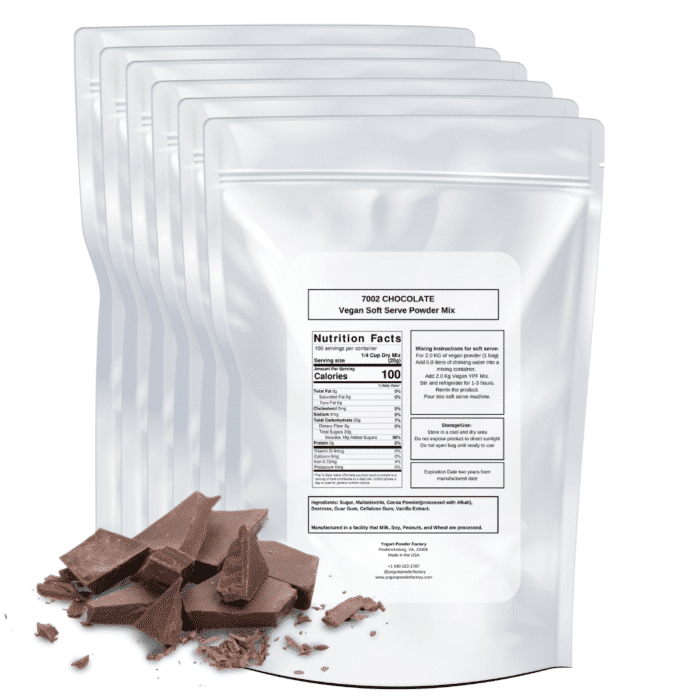 back of vegan chocolate label