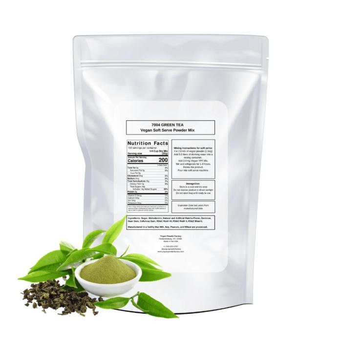 back vegan green tea label