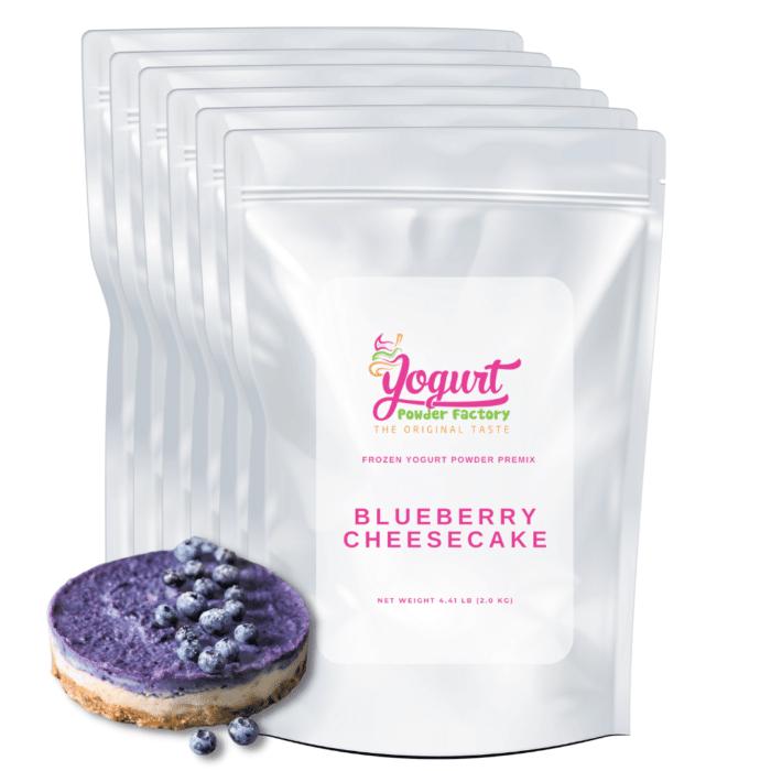 blueberry cheesecake frozen yogurt powder mix box
