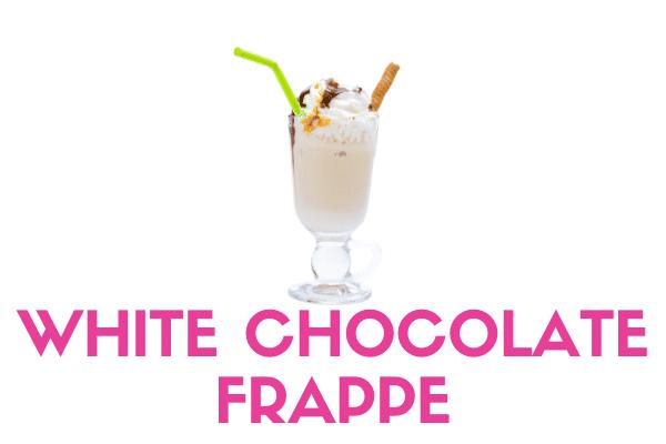 white chocolate frappe frozen yogurt powder mix