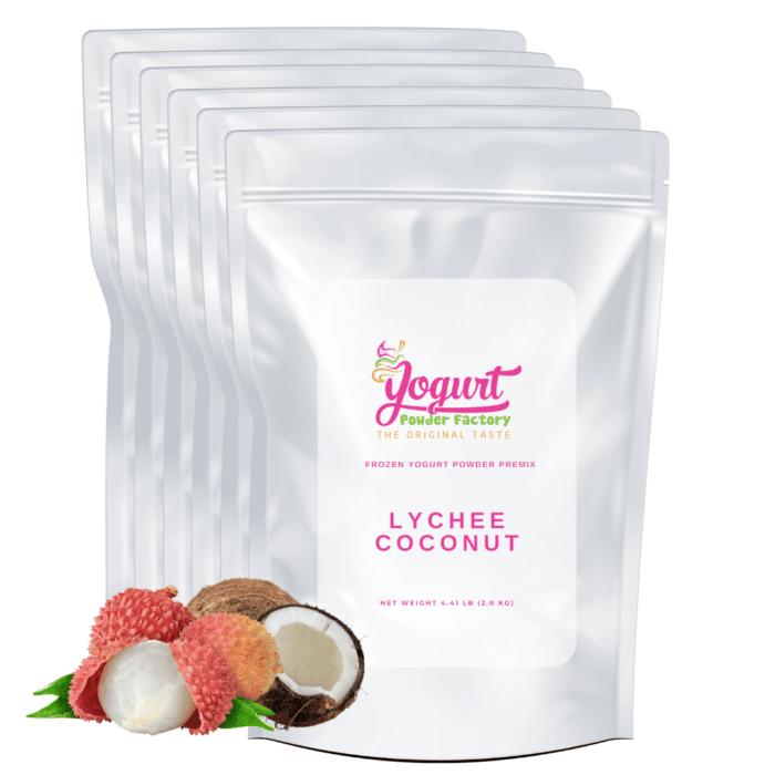 lychee coconut frozen yogurt mix
