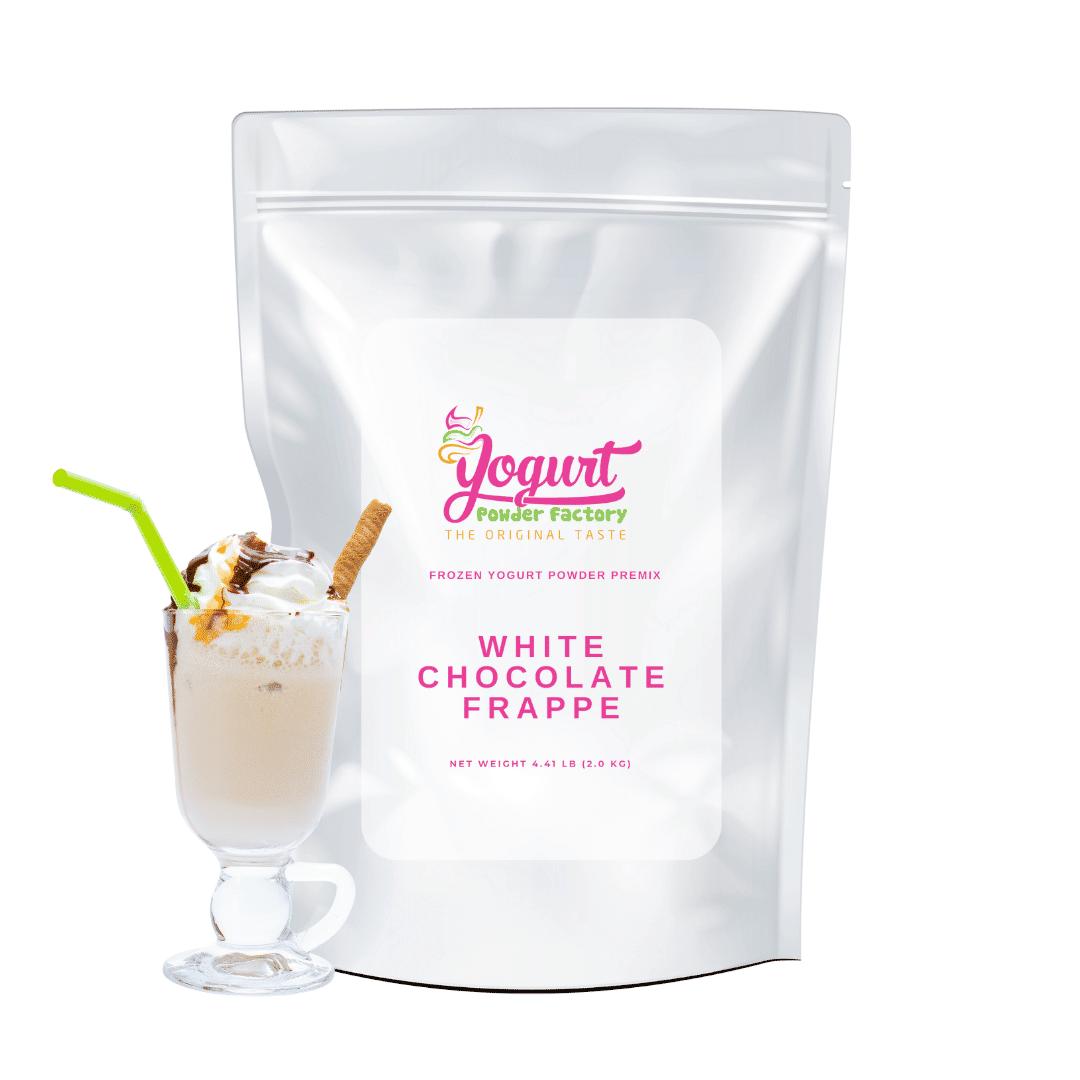 white chocolate frappe bag frozen yogurt powder mix