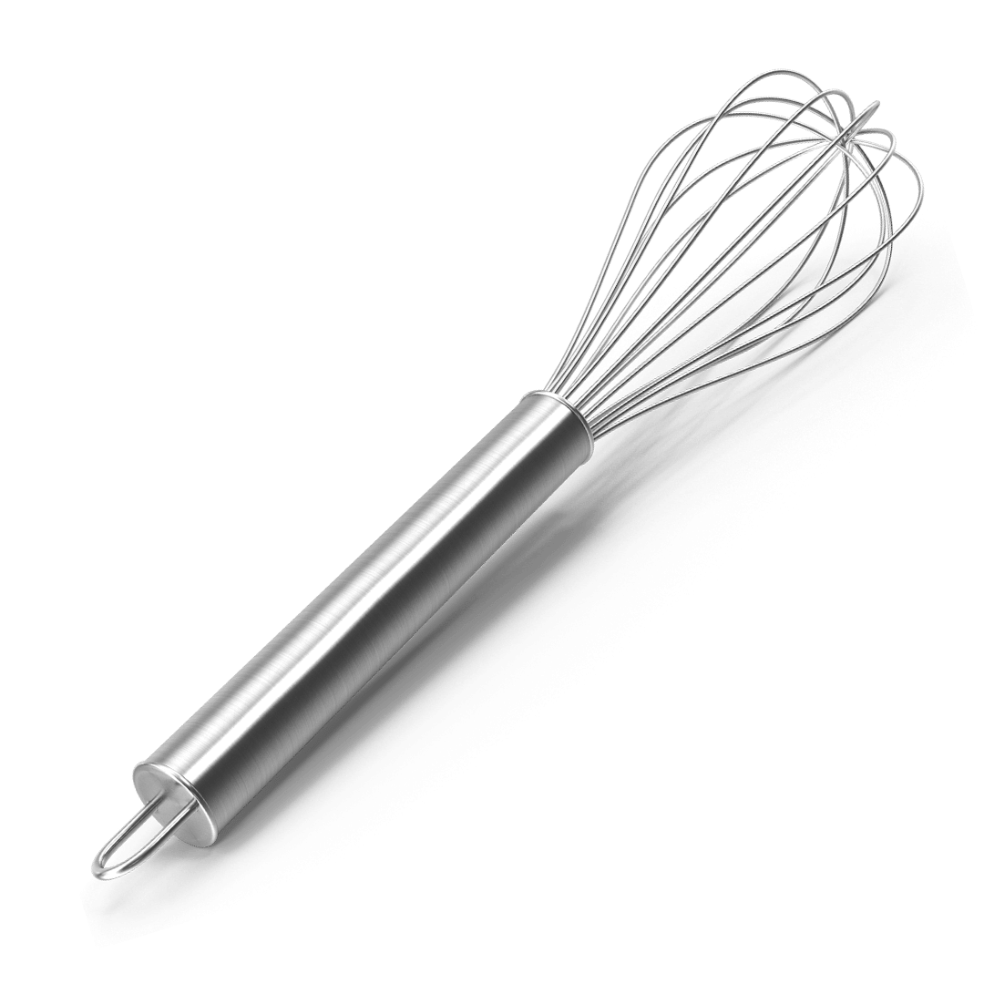 a metal whisk