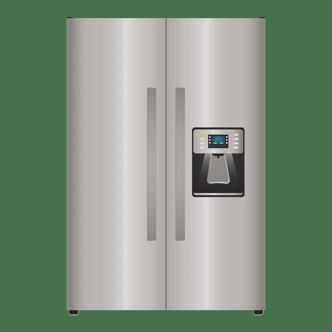 front of fridge