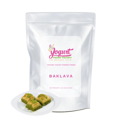 front of baklava bag