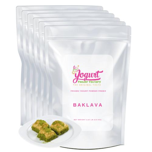 front of baklava bags